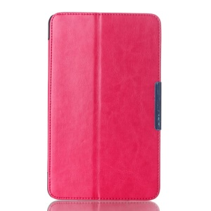 Crazy Horse Magnetic Leather Cover for ASUS MeMO Pad 8 ME181C w/ Stand - Rose