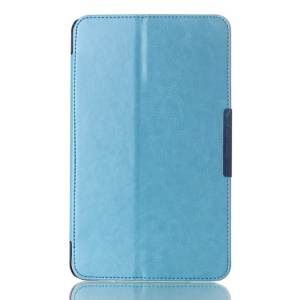 Crazy Horse Magnetic Leather Cover for ASUS MeMO Pad 8 ME181C w/ Stand - Baby Blue