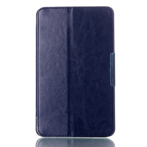 Crazy Horse Magnetic Leather Shell for ASUS MeMO Pad 8 ME181C w/ Stand - Dark Blue