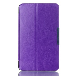 Crazy Horse Magnetic Leather Case for ASUS MeMO Pad 8 ME181C w/ Stand - Purple