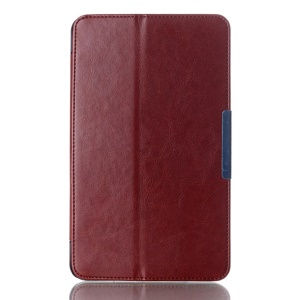 Crazy Horse Magnetic Leather Stand Case for ASUS MeMO Pad 8 ME181C - Brown