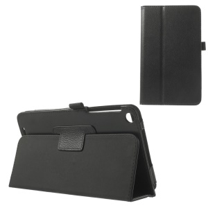 Litchi Texture Magnetic Folio Leather Stand Case for ASUS MeMO Pad 8 ME181C - Black