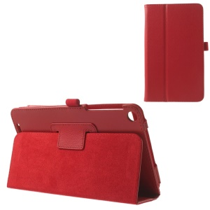 For ASUS MeMO Pad 8 ME181C Magnetic Litchi Texture PU Leather Stand Cover - Red