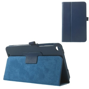 Litchi Texture Folio Stand PU Leather Skin Case for ASUS MeMO Pad 8 ME181C - Blue
