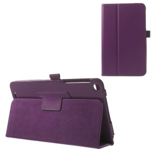 Litchi Texture Folio Stand PU Leather Tablet Case for ASUS MeMO Pad 8 ME181C - Purple