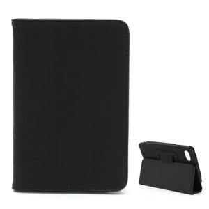 Soft Folding Folio PU Leather Stand Case for Huawei MediaPad 7 Lite Tablet - Black