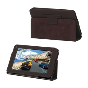 "Folio PU Leather Stand Case for Huawei MediaPad 7.0"" - Brown"
