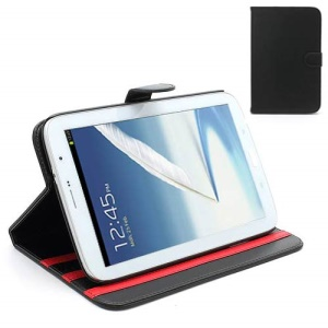 Book-style Leather Stand Case for Samsung Galaxy Note 8.0 N5100 N5110 - Black