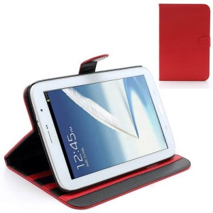 Book-style Leather Stand Case for Samsung Galaxy Note 8.0 N5100 N5110 - Red