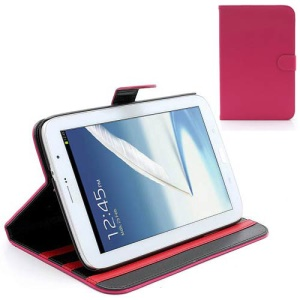 Book-style Leather Stand Case for Samsung Galaxy Note 8.0 N5100 N5110 - Rose