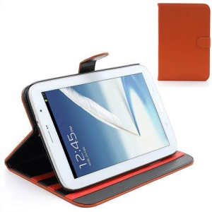Book-style Leather Stand Case for Samsung Galaxy Note 8.0 N5100 N5110 - Orange