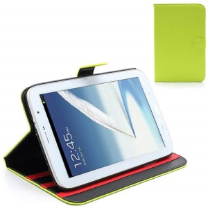 Book-style Leather Case Stand for Samsung Galaxy Note 8.0 N5100 N5110 - Green