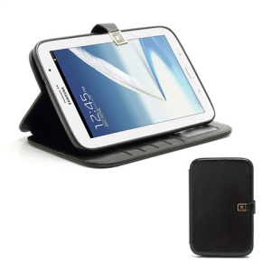 Crazy Horse Folio Leather Magnetic Case Stand for Samsung Galaxy Note 8.0 N5100 N5110 - Black
