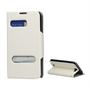 Stylish Samsung Galaxy Note II / 2 N7100 Leather Case with Stand - White