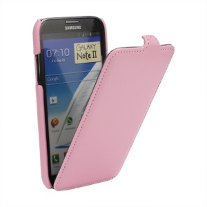 Litchi Vertical Flip Leather Case for Samsung Galaxy Note 2 / II N7100 - Pink