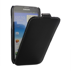 Melkco Premium Vertical Style Leather Case for Samsung Galaxy Note 2 / II N7100 - Black