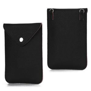 Fashion Litchi Leather Pouch Shoulder Bag for Samsung Galaxy Note 2 / II N7100 - Black