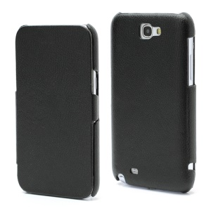 Simple Litchi Genuine Leather Folio Case for Samsung Galaxy Note 2 / II N7100