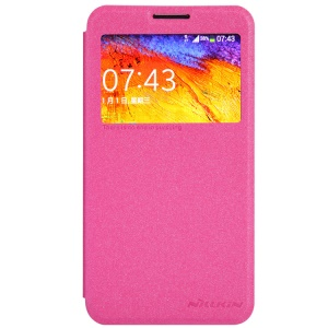 Nillkin Sparkle Series for Samsung Galaxy Note 3 Neo N750 N7502 Window View Leather Case - Rose
