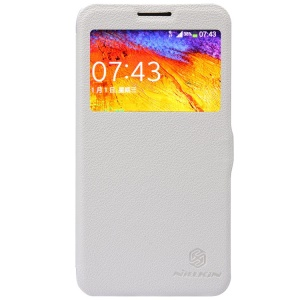 White Nillkin Fresh Series Window View Leather Flip Case for Samsung Galaxy Note 3 Neo N7502 N7505