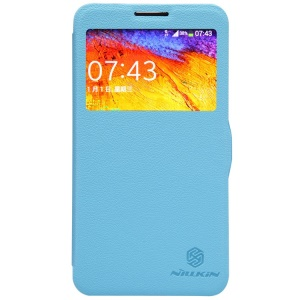 Blue Nillkin Fresh Series Window View Leather Flip Cover for Samsung Galaxy Note 3 Neo N750 N7505