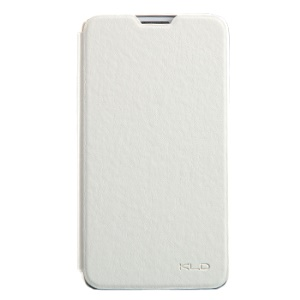 White KLD England Series Flip Leather Case for Samsung Galaxy Note 3 Neo N750 N7505