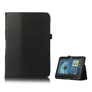 Slim Leather Stand Case Cover for Samsung Galaxy Note 10.1 N8000 N8010 - Black
