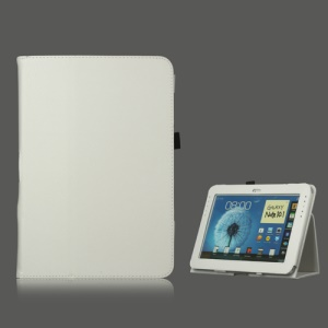 Slim Leather Stand Case Cover for Samsung Galaxy Note 10.1 N8000 N8010 - White