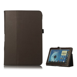 Slim Leather Stand Case Cover for Samsung Galaxy Note 10.1 N8000 N8010 - Brown