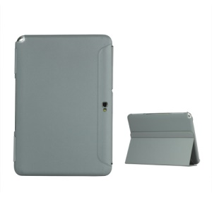 Business Leather Stand Case for Samsung Galaxy Note 10.1 N8000 N8010 - Grey