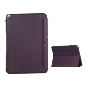 Business Leather Stand Case for Samsung Galaxy Note 10.1 N8000 N8010 - Purple