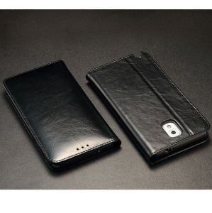 KLD Royale Series Wallet Style Leather Case for Samsung Galaxy Note3 N9005 - Black