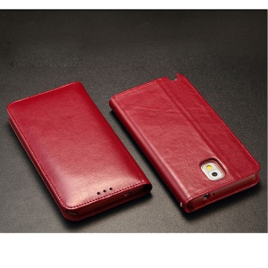 KLD Royale Series Wallet Style Leather Cover for Samsung Galaxy Note3 N9002 - Red