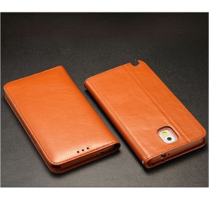 KLD Royale Series Wallet Style Leather Case for Samsung Galaxy Note3 N9000 - Brown