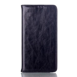 Black Crazy Horse Texture Magnetic Genuine Leather Stand Case for Samsung Galaxy Note 3 N9000 N9002 N9005