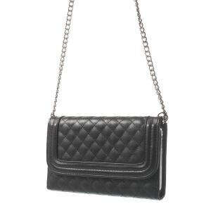 Rhombus Pattern Shoulder Bag Leather Case w/ Card Slots for Samsung Galaxy Note 3 N9005 - Black