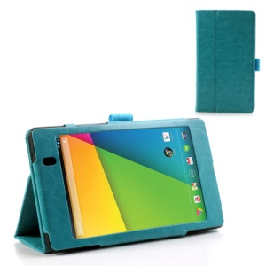 Blue for Asus Google Nexus 7 (2013) II 2nd Generation Crazy Horse Leather Stand Case
