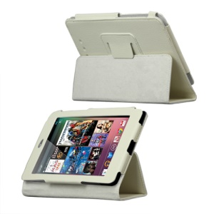 Slim Leather Stand Case Cover for ASUS Google Nexus 7 - White
