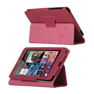 Slim Leather Stand Case Cover for ASUS Google Nexus 7 - Rose