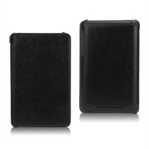 Slim Folio Leather Case Cover for ASUS Google Nexus 7 1st - Black