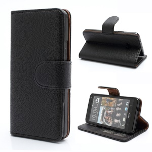 Black Wallet PU Leather Magnetic Case Cover Accessories for HTC One M7 801e