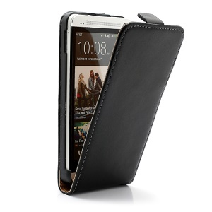 Premium Genuine Leather Magnetic Flip Case Accessories for HTC One M7 801e