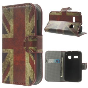 Retro Union Jack Flag Wallet Leather Stand Case for Alcatel One Touch Pop C3 4033A 4033D 4033X