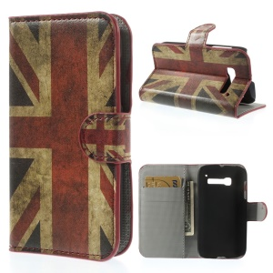 Vintage UK Flag Wallet Leather Stand Case for Alcatel One Touch Pop C5 OT-5036X 5037A