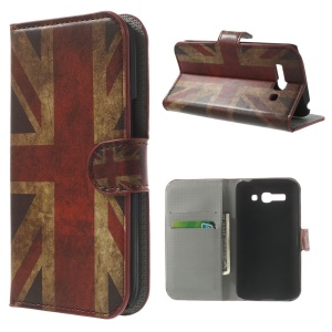 Vintage Union Jack Flag Wallet Leather Stand Case for Alcatel One Touch Pop C9 7047A 7047D