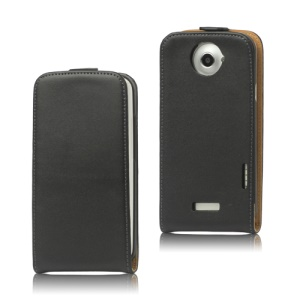 Premium Vertical Genuine Split Leather Case for HTC One X S720e / One XL / One X Plus