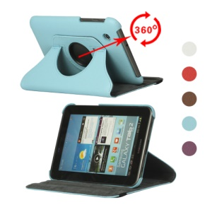 Portable Rotary Leather Stand Cover for Samsung Galaxy Tab2 7.0 P3100 P3110