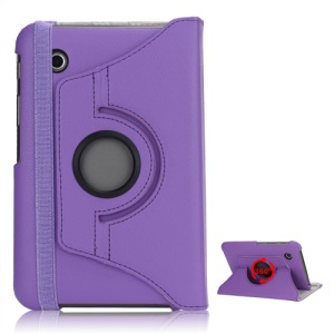 Folio Rotating Leather Stand Case for Samsung Galaxy Tab2 7.0 P3100 P3110 - Purple
