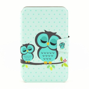Smart Leather Stand Case for Samsung Galaxy Tab 3 7.0 P3200 - Green Owl on the Branch