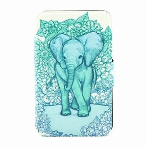 Rotary Stand Smart Leather Cover for Samsung Galaxy Tab 3 7.0 P3220 - Elephant Art Print